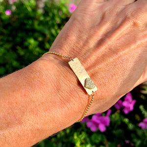 LORE 14k Gold Heart Bracelet