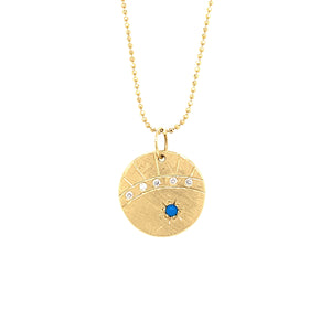 NEW! MALA 14K Gold Diamond-Turquoise Charm