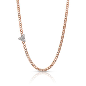 MALL 14k Gold Choker with Diamond Triangle