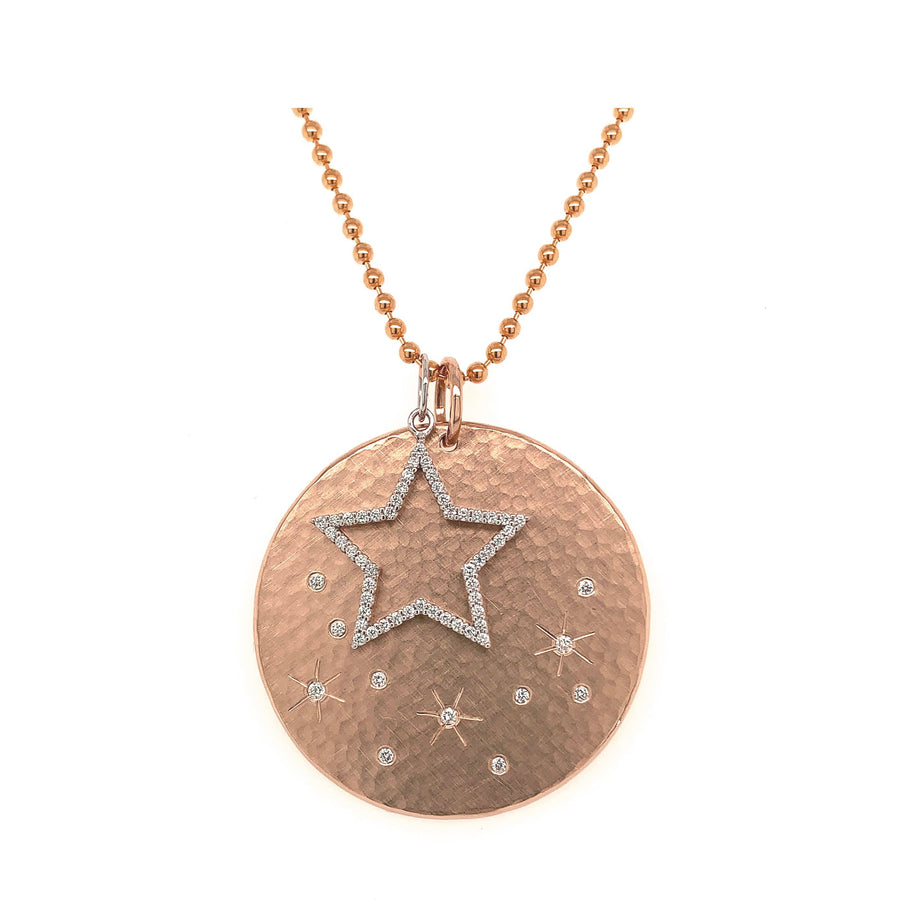 MINY Medallion with Floating Open Star