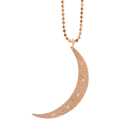 MOBI X-Large 14k Gold Moon Necklace