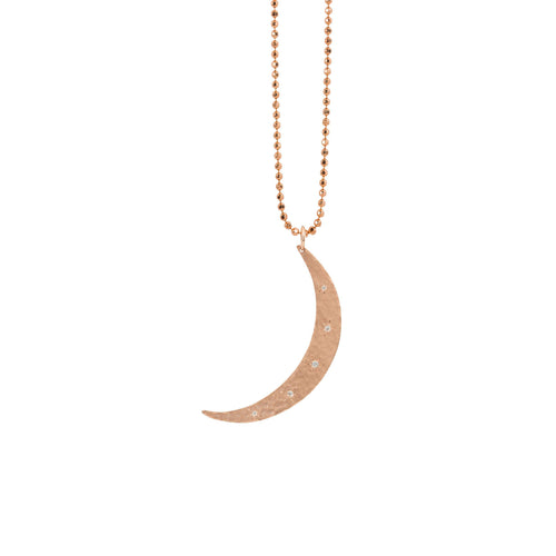 MOBI Medium 14k Gold Moon Pendant