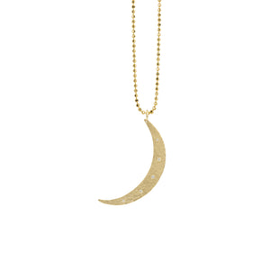 MOBI Medium 14k Gold Moon Necklace