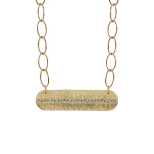 MOLY 14k Gold Bar Necklace