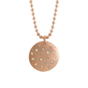 MONI X-Large 14k Gold Diamond Medallion