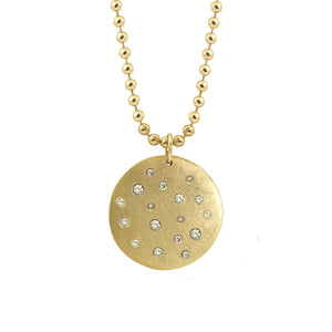 MONI 14k XL Gold Diamond Pendant