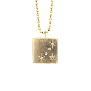 NEW! MORU 14k Gold Square Starburst