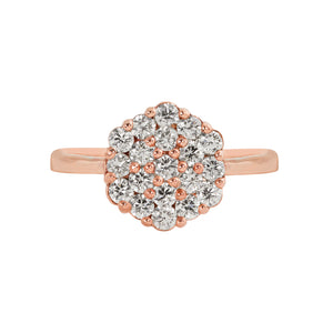 GAIL 14k Gold Diamond Cluster Ring