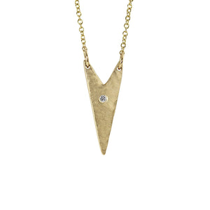 "NITA 14k Gold ""V"" Necklace"