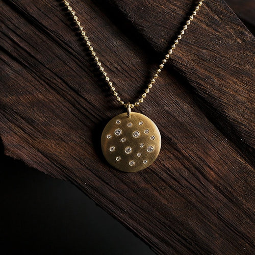 MONI X-Large 14k Gold Diamond Pendant
