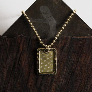 DANI 14k Gold XL Dog Tag