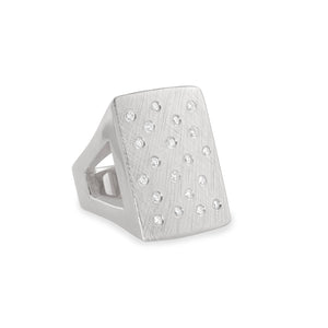 No. 1 14k Gold Block Ring