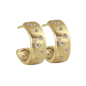 OLLI 14k Gold Huggie Earrings