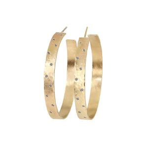 OPAR 14k Medium Diamond Hoop Earrings