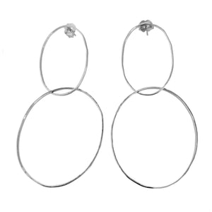 OREO 14k Gold Double Hoop Earrings