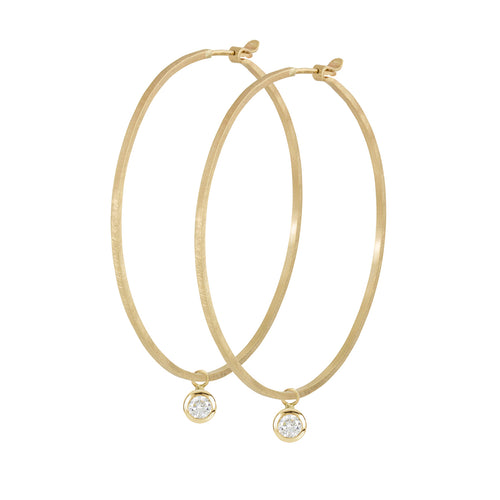 OTTO 14k Gold Diamond Hoop Charms