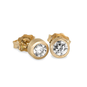 OTTO 14k Gold Solitaire Diamond Earrings