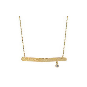 PARI 14k Gold Bar Necklace