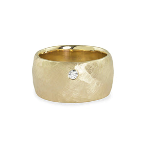 RAMA 14k Gold Wide Band Ring