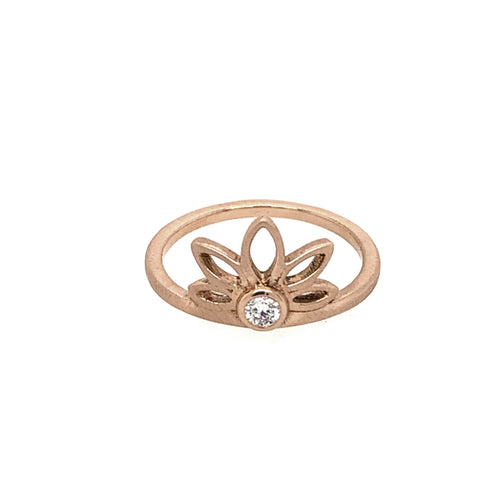 RAYS 14k Gold Flower Ring