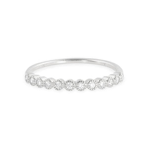 RAZZ 14k Gold Half Eternity Ring