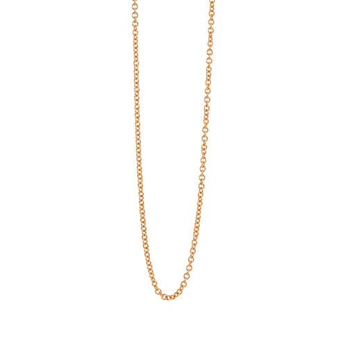 1.2mm 14k Gold Rolo Link Chain