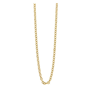 1.5mm 14k Gold Rolo Link Chain