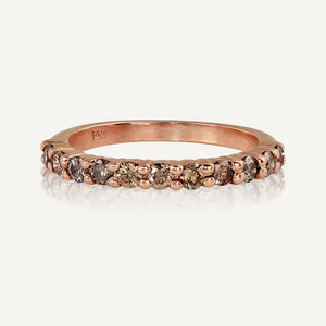ROAN 14k Gold Half Eternity Band
