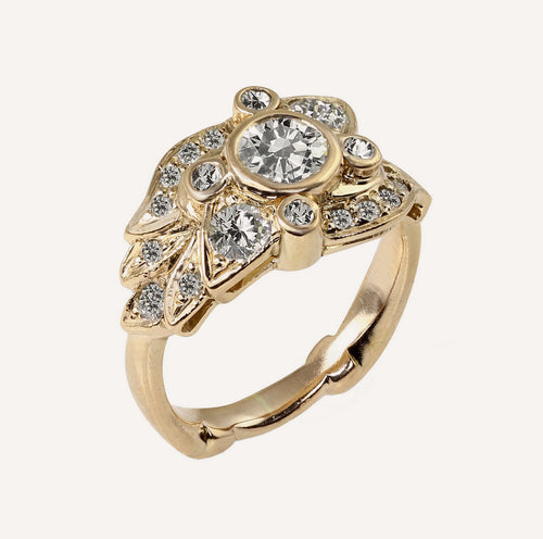 ROBI 14k Gold Wildflower Ring
