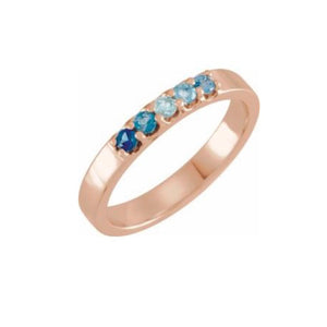 ROMM 14k Gold Blue Gemstone Ring