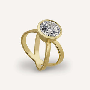 ROST 14k Gold Criss Cross Ring
