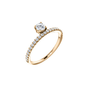 RUEX 14k Gold Diamond Eternity Ring