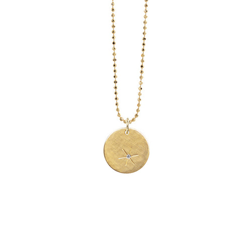 SKIP 14k Small Gold Necklace