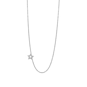 Diamond Star 14k Gold Necklace