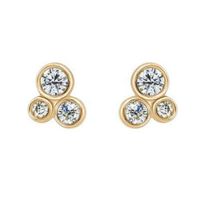 OTTA 14k Gold Cluster Earrings