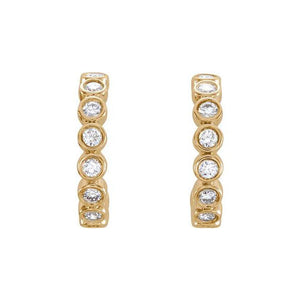 PAVI 14k Gold Diamond Hoops