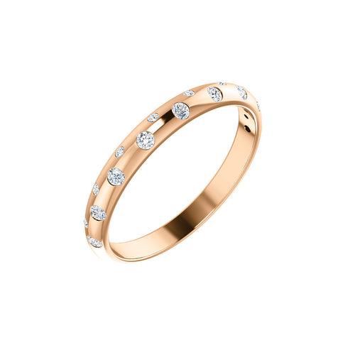 SCAT 14k Gold Diamond Band