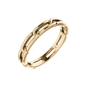 RICA 14k Gold Link Ring