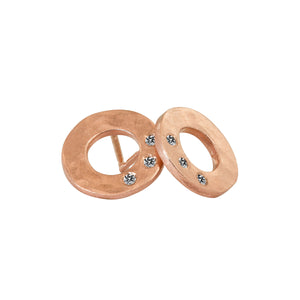 SUZA 14k Gold Circle Earrings
