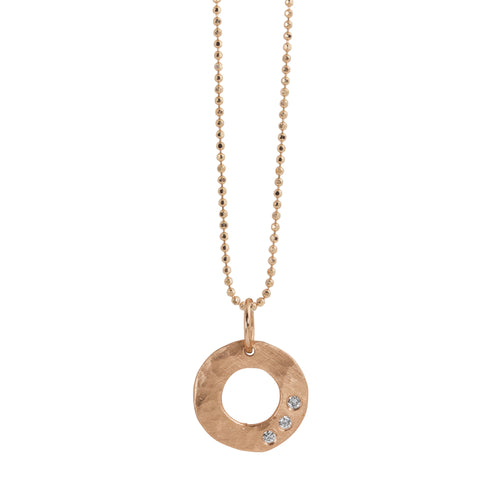 SUZA 14k Gold Circle Necklace