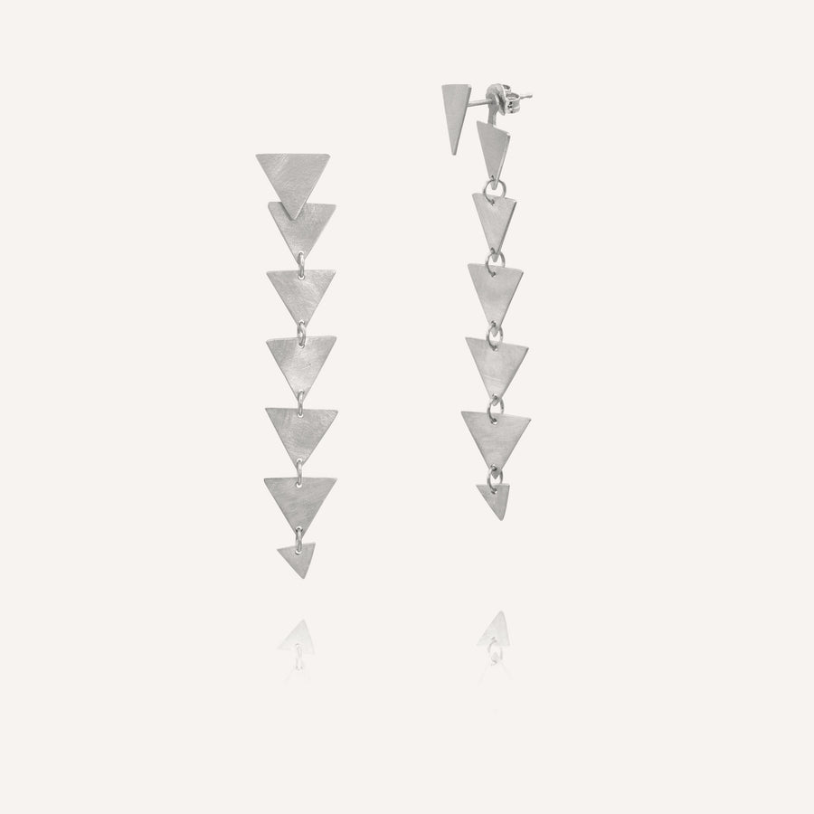 TABI 14k Gold Triangle Post Earrings