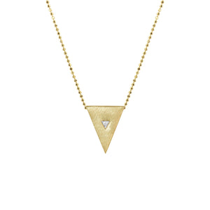 TISA 14k Gold Triangle Necklace