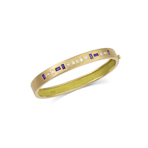 TOMI 18k Gold Diamond Bangle