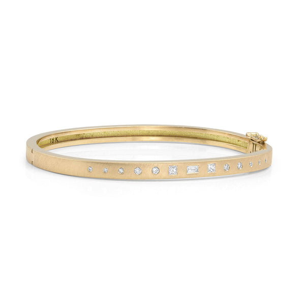 TUXX 18k Gold Diamond Bangle