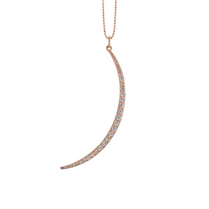 VIMI Large 14k Gold Crescent Moon Necklace