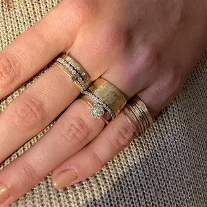 RAYA 14k Gold Hammered Ring