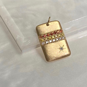 CALY 14k Gold Striped Charm