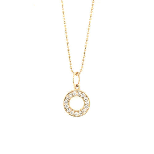 GINY 14k Gold Diamond Circle