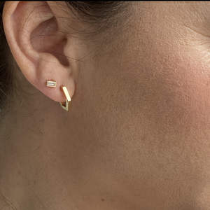 ORPA 14k Gold Geometric Earrings