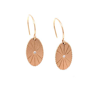 NEW! OVAL 14k Gold Disk Earrings